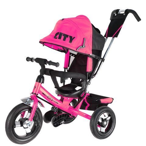 "3-х колесный велосипед Trike City Big (12""/10"") JD7BP, розовый"